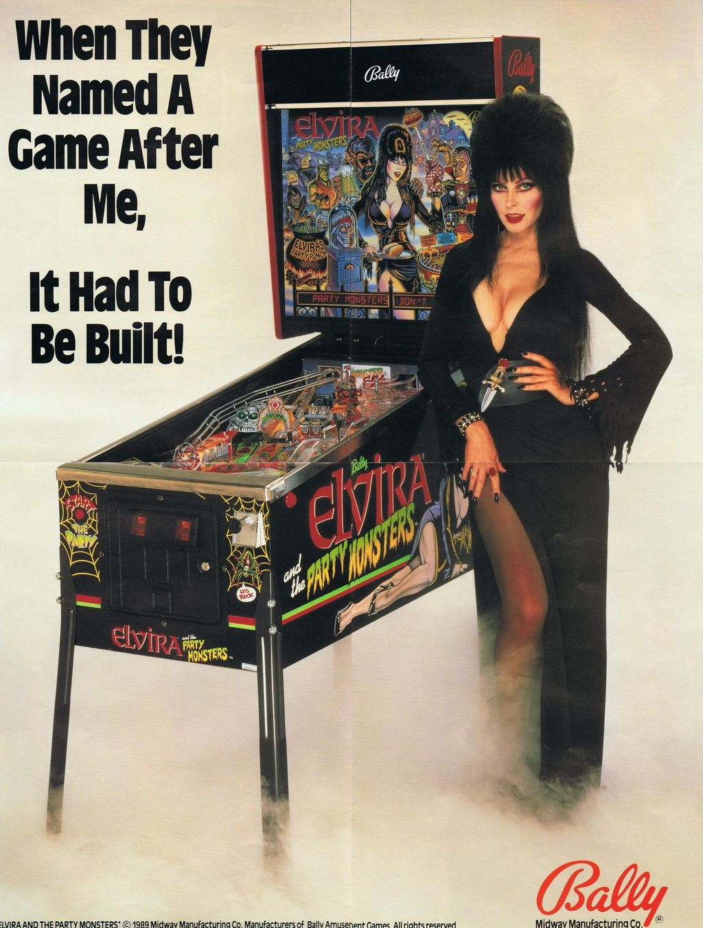 ELVIRA AND THE PARTY MONSTERS BALLY PINBALL GAME For Sale in ...